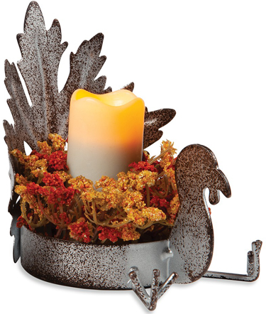 Turkey Leaf Candle Holder | Sturbridge Yankee Workshop
