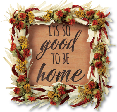Its Good to be Home Wreath Sign | Sturbridge Yankee Workshop