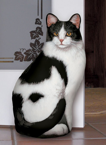 Black & White Cat Doorstop | Adeline Halvorson | USA | Sturbridge Yankee Workshop