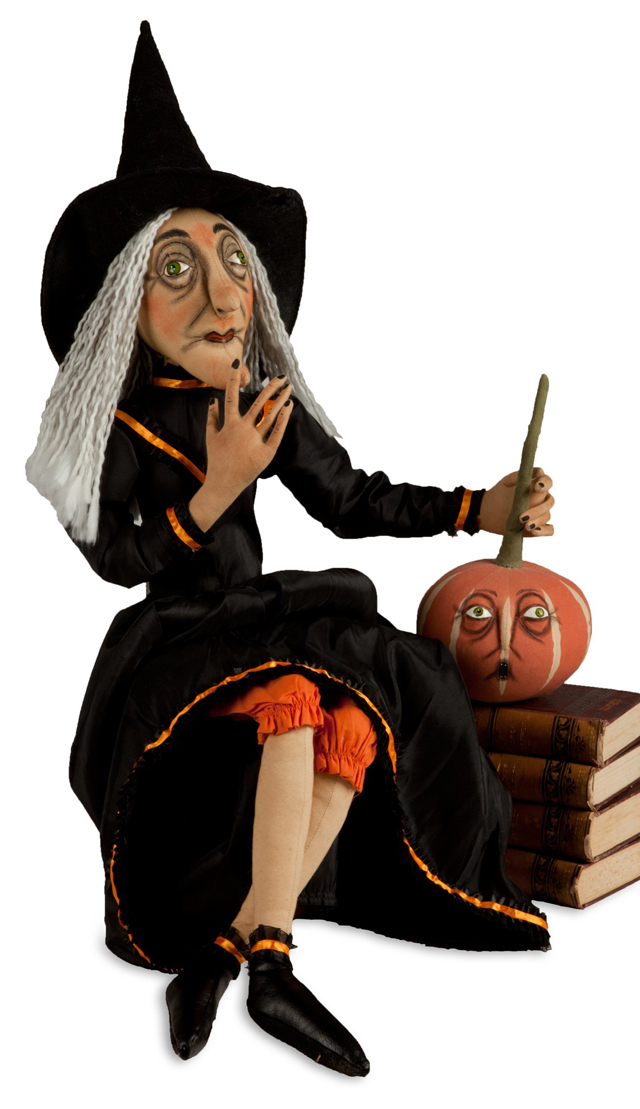Clarice the Witch Soft Sculpture | Joe Spencer | Sturbridge Yankee Workshop
