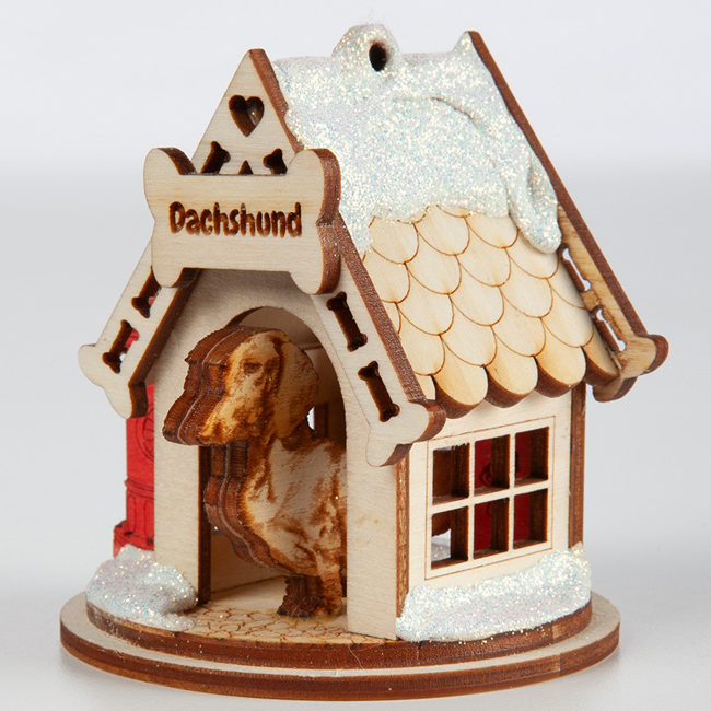 Dachshund House Ornament | Sturbridge Yankee Workshop