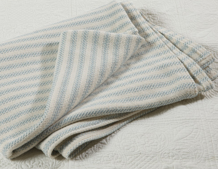 Freeport Ticking Stripe Throw | USA | Sturbridge Yankee Workshop