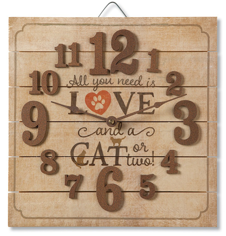 Love & A Cat Wall Clock | USA | Sturbridge Yankee Workshop