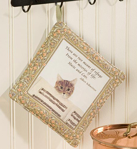 Musical Cat Potholder | USA Sturbridge Yankee Workshop