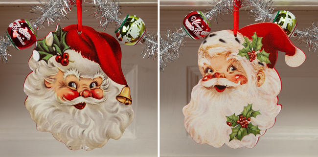 Rosy Santa Face Ornament Set | Sturbridge Yankee Workshop
