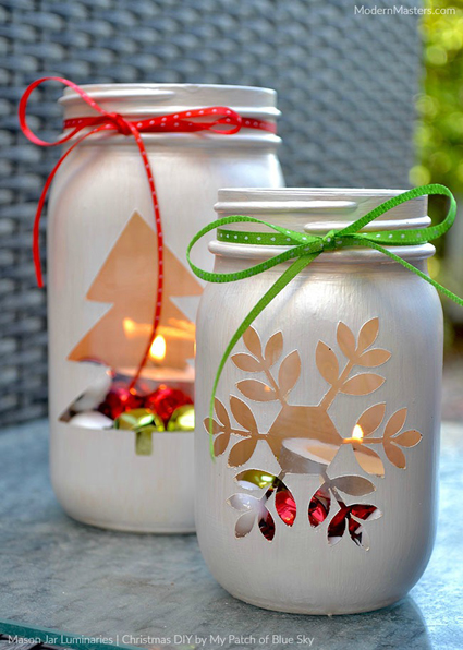 Mason Jar Luminaries | DIY | My Patch of Blue Sky