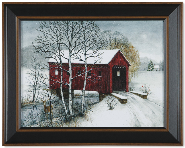 Covered Bridge Print | Artist Bonnie Fisher | Sturbridge Yankee Workshop
