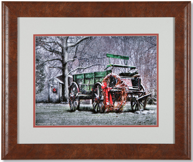 Holiday Wagon Framed Print | Artist Christopher John | Sturbridge Yankee Workshop
