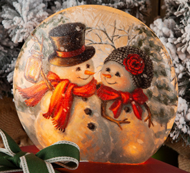 Mr & Mrs Snowman Accent Light | Sturbridge Yankee Workshop