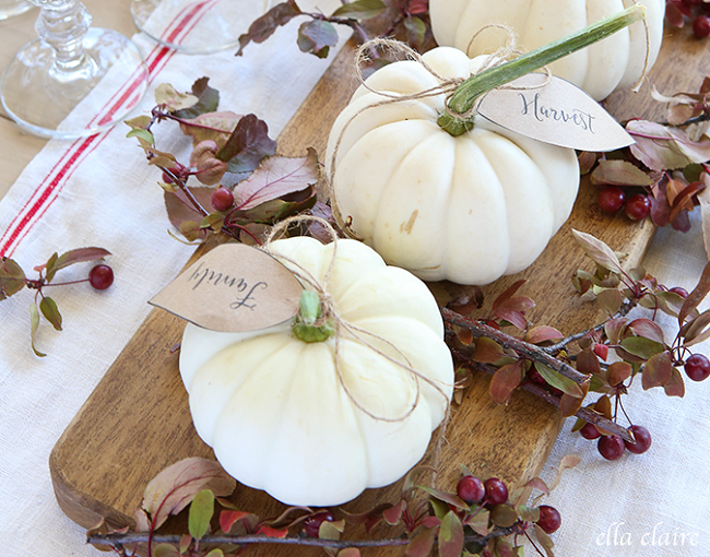 Pumpkin Leaves Free Printable | Ella Claire Blog | DIY