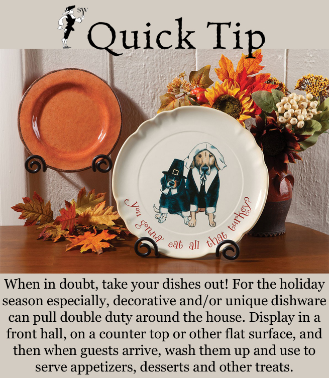 Quick Tip: Decorative Dishware | Sturbridge Yankee Workshop