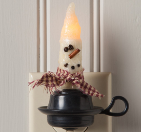 Snowman Candle Night Light | USA | Sturbridge Yankee Workshop