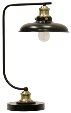 Gold Conway Industrial Style Desk Lamp | Sturbridge Yankee Workshop