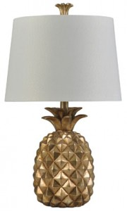 Gold Pineapple Table Lamp | Sturbridge Yankee Workshop