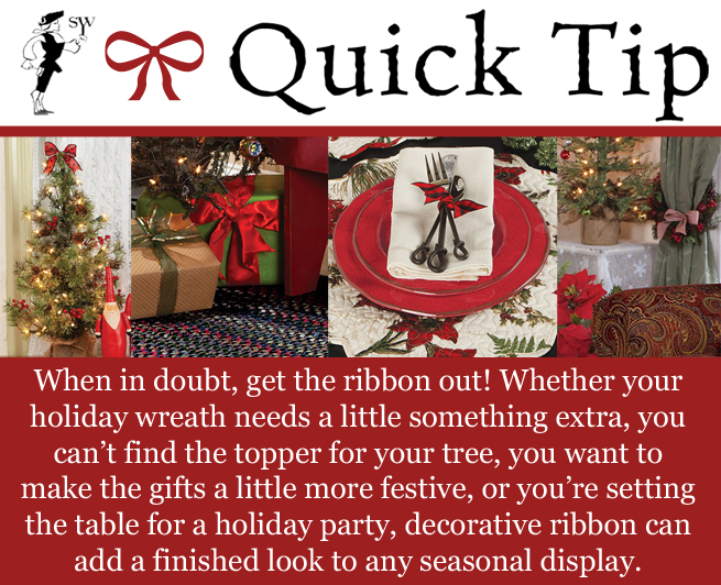 Quick Tip: Festive Holiday Ribbon | Sturbridge Yankee Workshop
