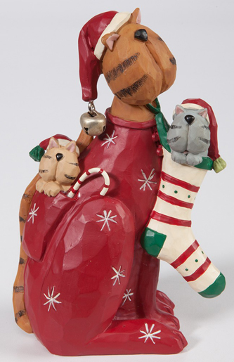 Cat's Pajamas Sculpture | Christmas Clearance | Sturbridge Yankee Workshop
