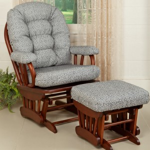 Clairmont Upholstered Glider & Ottoman | USA | Sturbridge Yankee Workshop