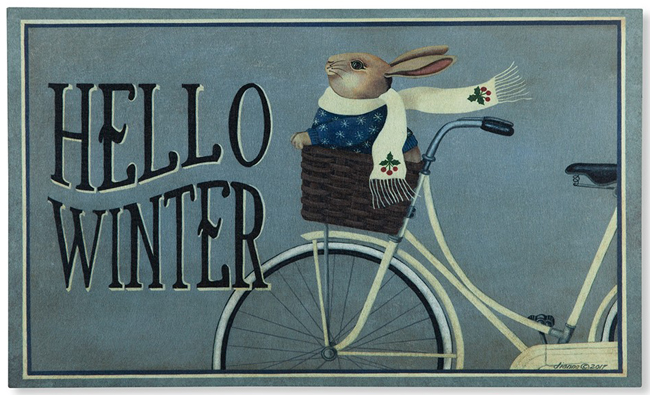 Hello Winter Doormat | Artist Dianna Swartz | USA | Sturbridge Yankee Workshop