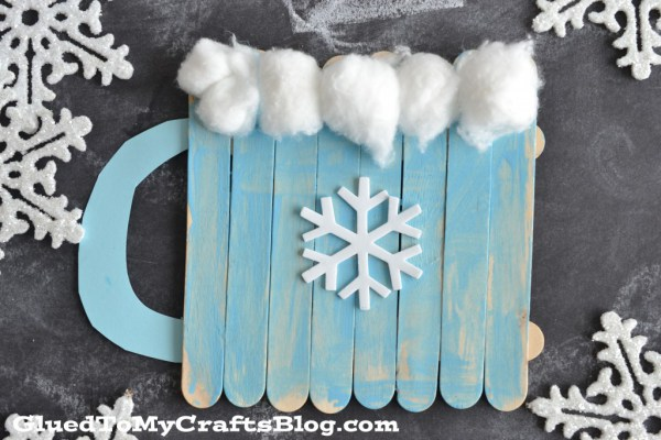 Popsicle Stick Hot Chocolate Mug | Glued To My Crafts Blog