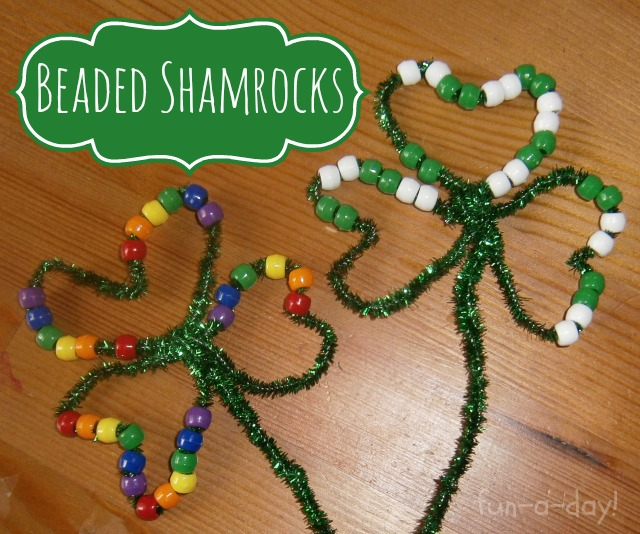 Beaded Shamrocks | Fun-A-Day