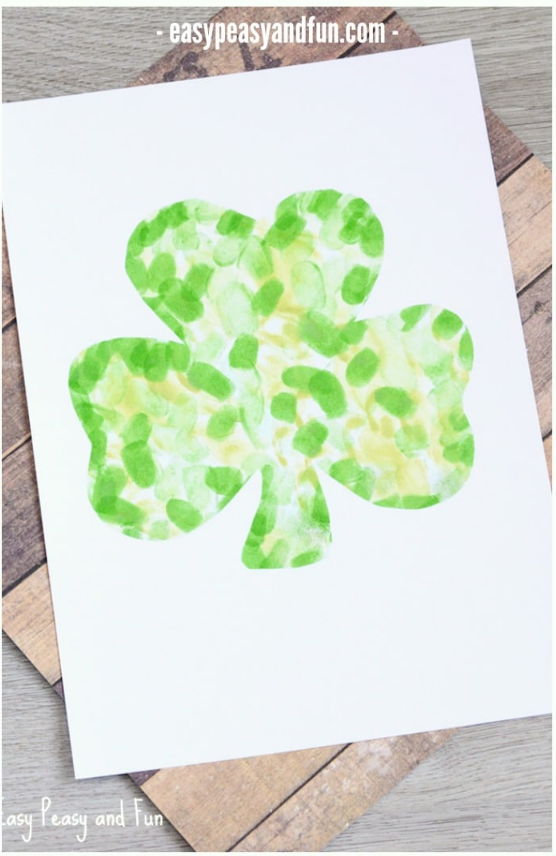 Fingerprint Shamrock Craft | Easy Peasy and Fun