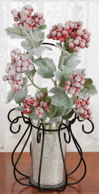 Flocked Berry & Leaf Bunch | Sturbridge Yankee Workshop