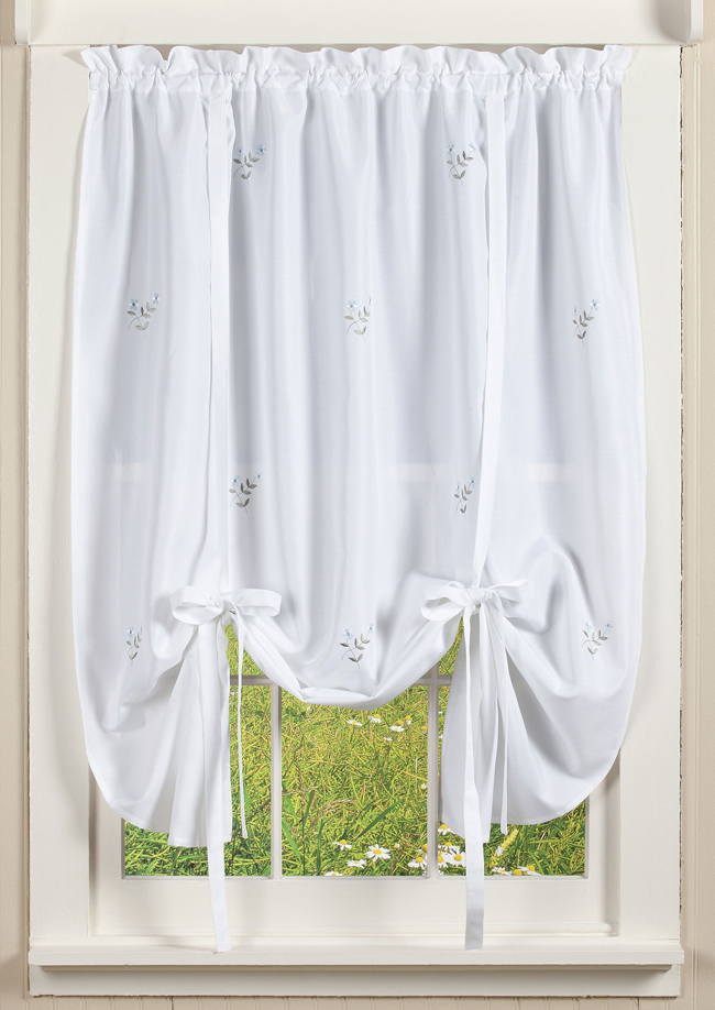 Forget Me Not Tie-Up Curtain | Sturbridge Yankee Workshop