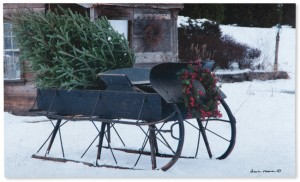 Grandpa's Sleigh Doormat | Artist Irvin Hoover | Made in the USA | Sturbridge Yankee Workshop