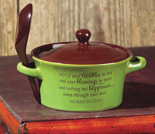 Irish Blessing Soup Bowl | Sturbridge Yankee Workshop