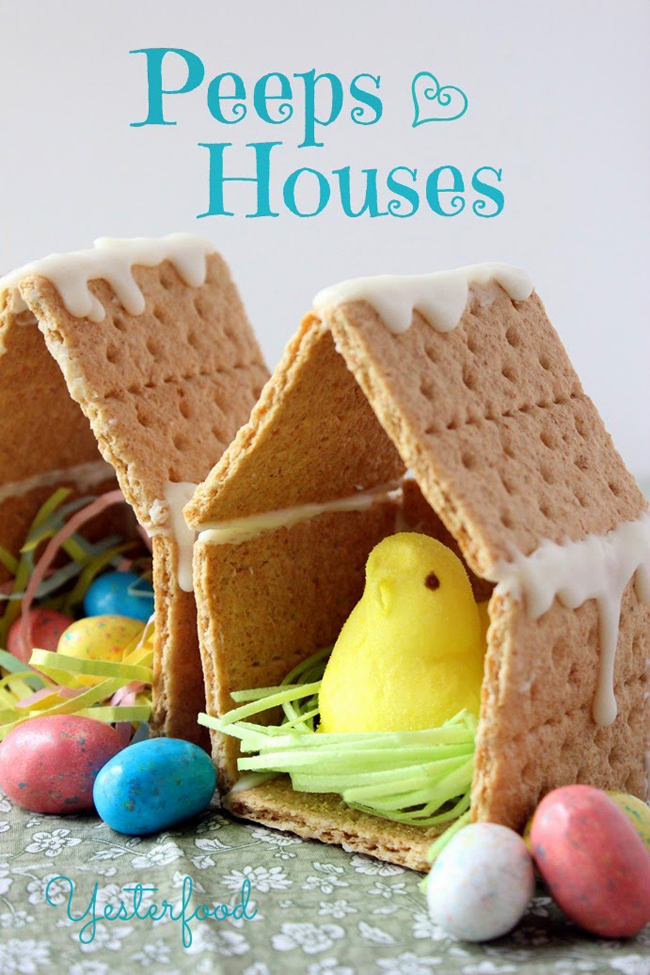 Peeps Houses | Yesterfood Blog | Spring Crafts