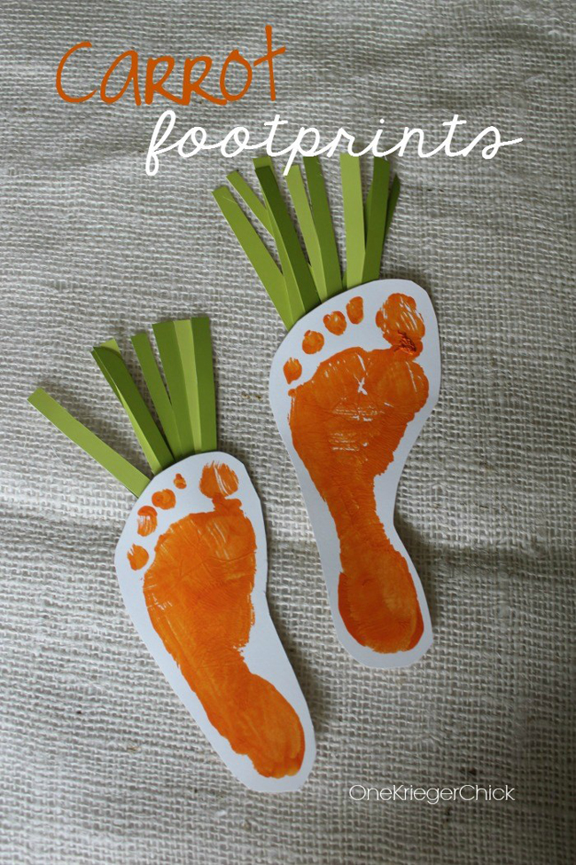 Spring Footprint Art | One Krieger Chick | Spring Crafts