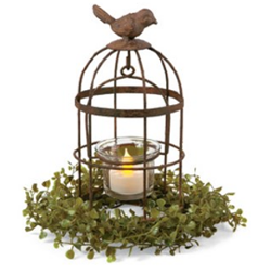 Metal Birdcage Tealight Holder | Sturbridge Yankee Workshop