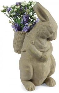 Bunny With Flower Basket | Spring 2019 | Sturbridge Yankee Workshop