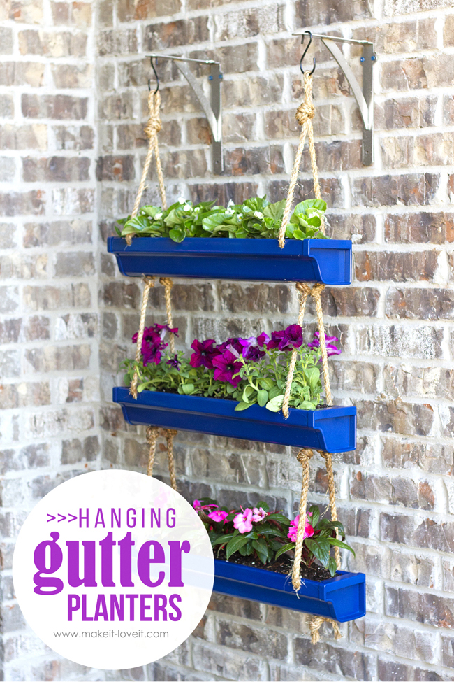 DIY Hanging Rain Gutter Planters | Make It & Love It | Spring Crafts