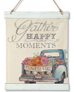 Happy Moments Canvas Wall Hanging | Spring 2019 | Sturbridge Yankee Workshop
