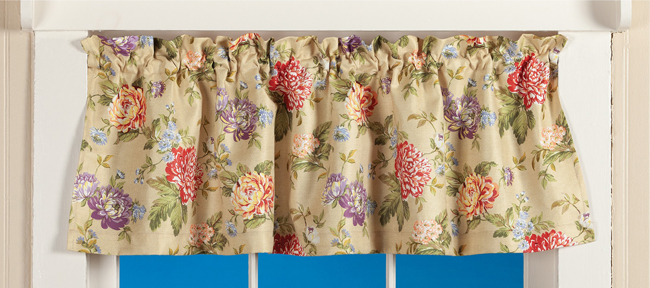 Madison Curtain Valance | Spring 2019 | Sturbridge Yankee Workshop