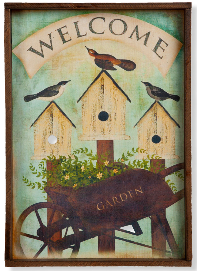 Welcome Garden Birdhouse Print | Spring 2019 | Sturbridge Yankee Workshop