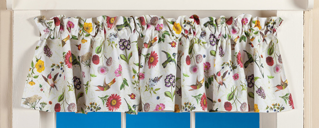 Secret Garden Curtain Valance | Spring 2019 | Sturbridge Yankee Workshop