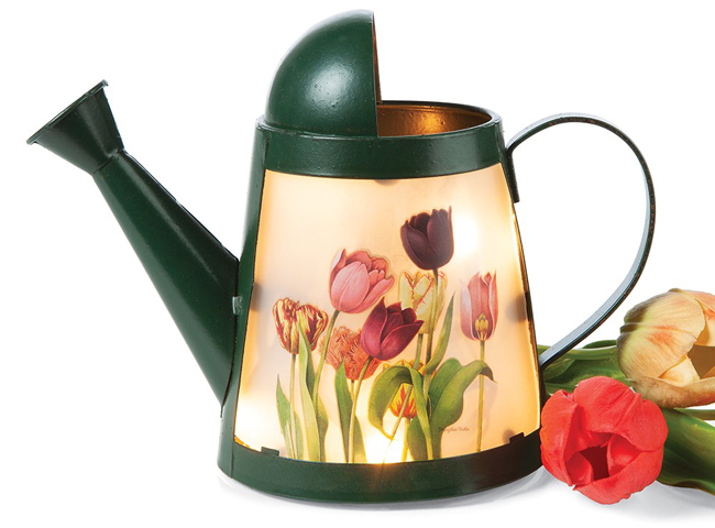 Tulips Watering Can Petite Accent Light | Spring 2019