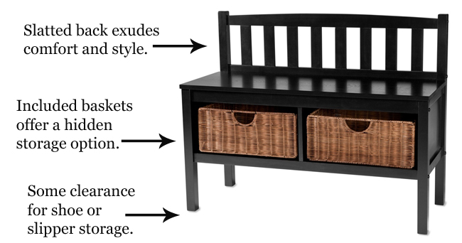 Basket Storage Bench | Sturbridge Yankee Workshop