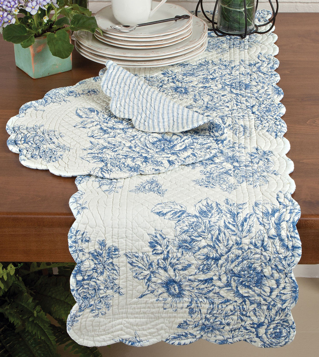 Blue Belle Quilted Tabletop Accents | Sturbridge Yankee Workshop