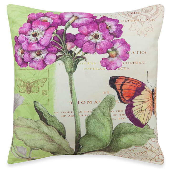 Purple Primrose Pillow | Susan Winget | Sturbridge Yankee Workshop