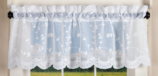 Roanne Lace Window Valance | Curtain Collection | Free Shipping | Sturbridge Yankee Workshop