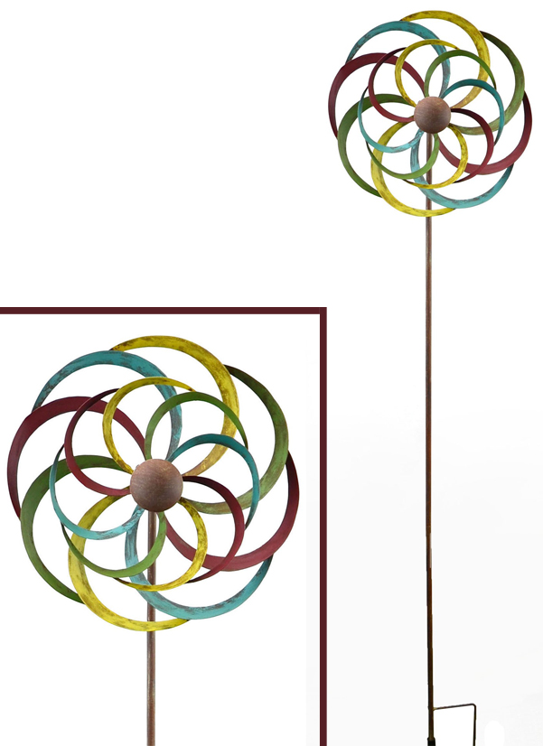 Colorful Pinwheel Spinner Garden Stake | Web Exclusive | Spring 2019