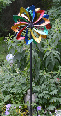 Multi Color Petal Spinner Garden Stake | Garden Decor | Sturbridge Yankee Workshop