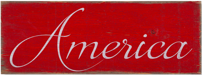 America Sign | Made in the USA | Sturbridge Yankee Workshop