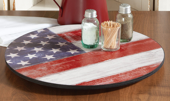Americana Flag Lazy Susan | USA | Sturbridge Yankee Workshop