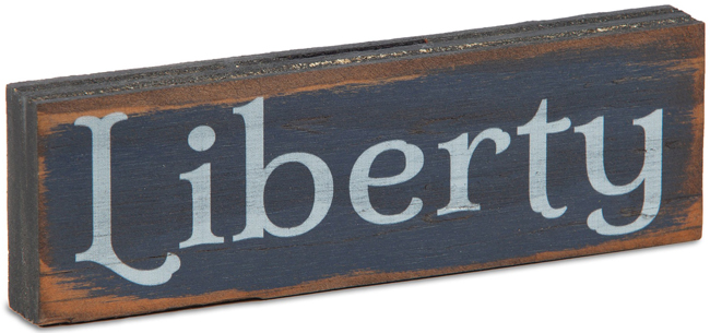Blue Liberty Miniature Sign | Made in the USA | Sturbridge Yankee Workshop