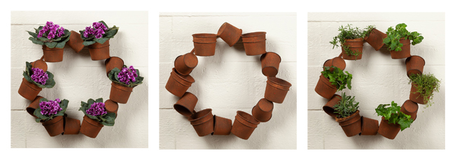 Metal Planter Wreath | Home and Garden | Sturbridge Yankee Workshop