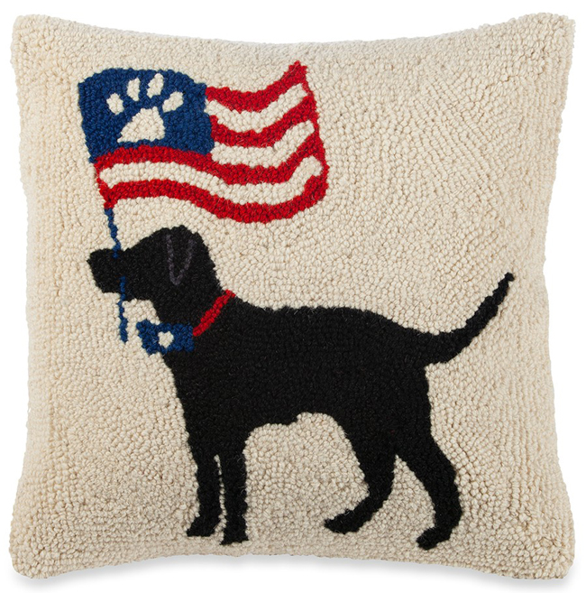 Paw Print Flag Pillow | Sturbridge Yankee Workshop